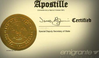 Irme sin apostillar