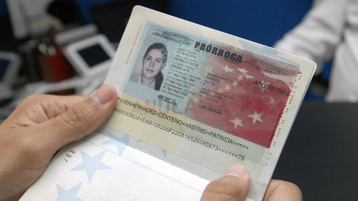 Prorroga del pasaporte