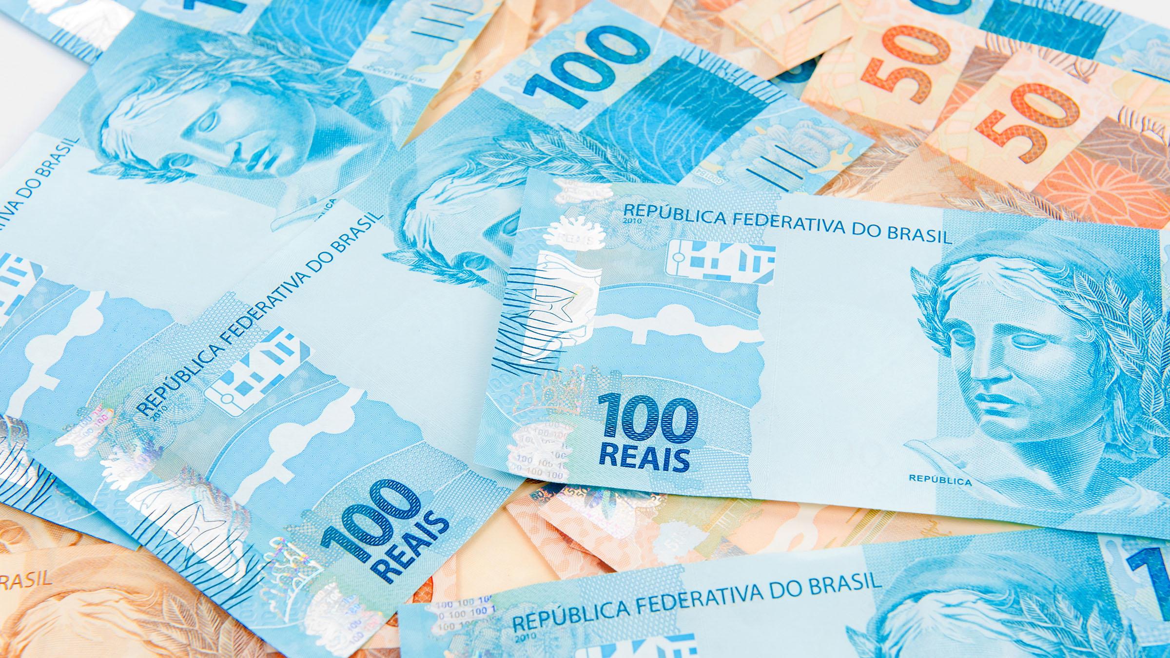 Reales moneda de brasil