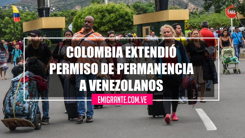 Colombia extendió el permiso de permanencia a Venezolanos