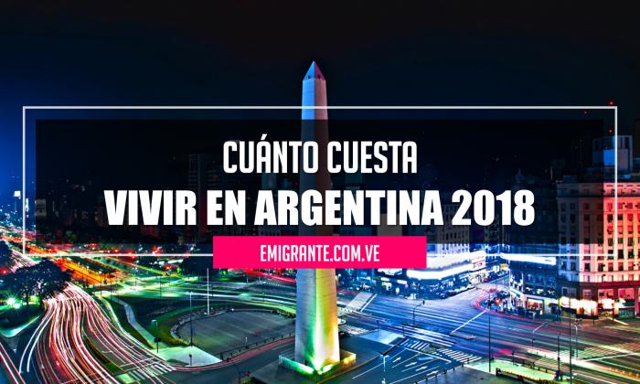 Cuánto cuesta vivir en Argentina 2018