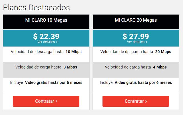 Planes de Internet Claro Ecuador