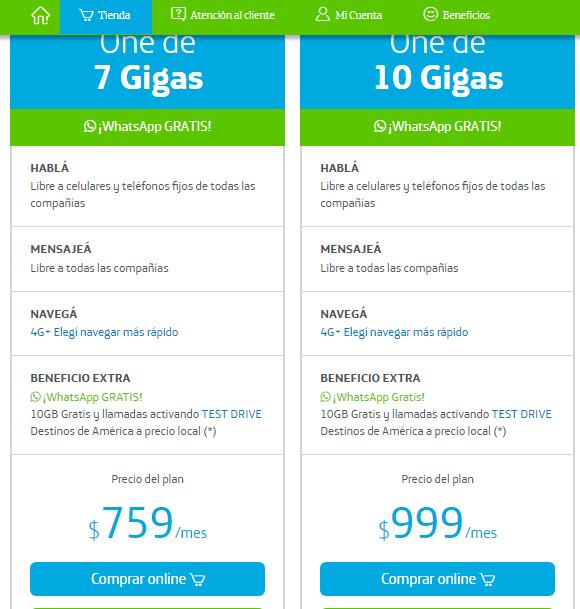 Planes de Internet Movistar Argentina precios