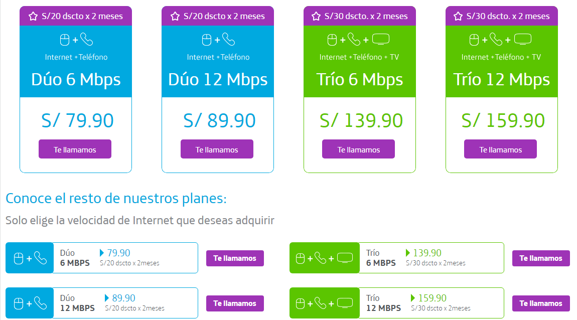 Planes de Internet Movistar Perú 2018