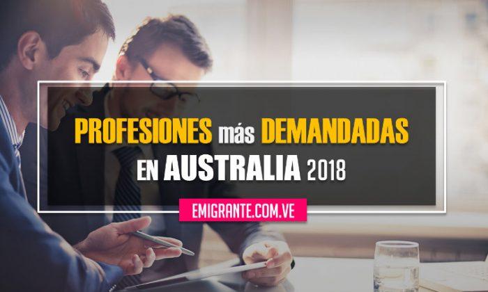 Profesiones más demandadas en Australia 2018