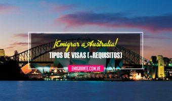 Visas para emigrar a Australia 2018