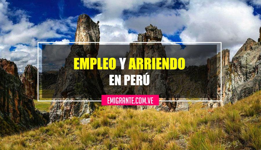 Buscar empleo y arriendo en Perú