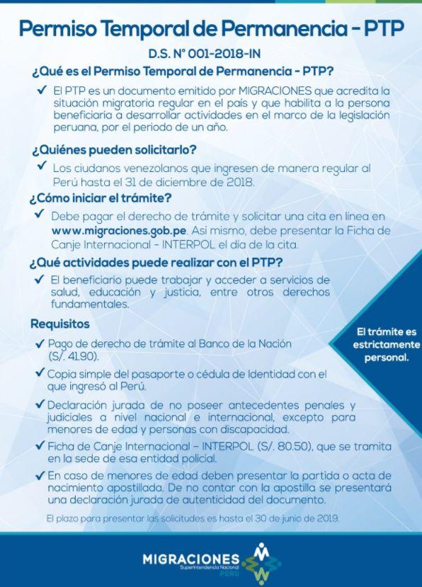 PTP Perú para Venezolanos